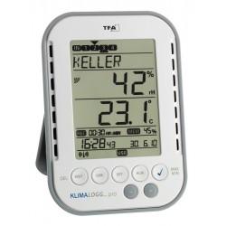 Set registrador de temperatura y humedad con sensor inalámbrico y alarmas sonoras