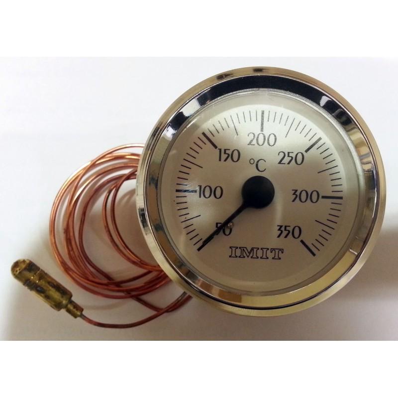 Term metro para horno redondo con bulbo y capilar de 1 mts - Termometros para hornos de lena ...