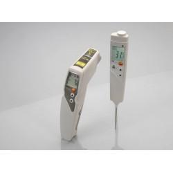 Set termómetros por infrarrojos Testo 831 y penetración Testo 106
