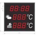 Visualizador gran formato de temperatura ambiente, temperatura del agua y hora especial piscinas