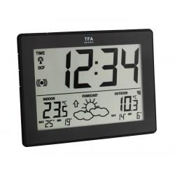 Reloj-calendario con estación meteorológica