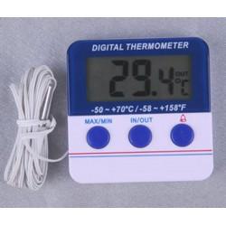 Termómetro interior/exterior con memoria Máx/Mín y alarma configurable