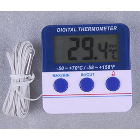 10881 Termómetro interior/exterior con memoria Máx/Mín y alarma configurable