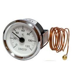 Termómetro redondo con Bulbo y capilar de 1 mts 0ºC + 120ºC