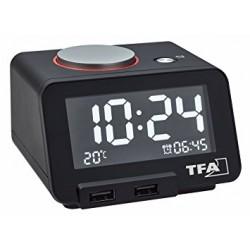 Reloj despertador con puertos USB TFA 60.2017.01 TFA