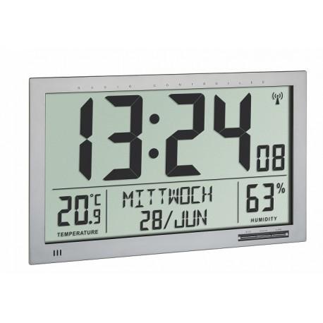 60.4517.54 Reloj-calendario Jumbo con temperatura y humedad interior TFA