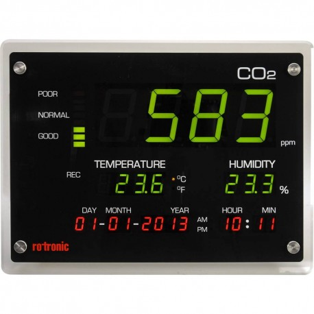 1434017 - 62 Medidor de CO2, temperatura, humedad y calendario Termomed