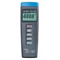 Termómetro tipo K con rango de -200ºC a +1.300ºC.
