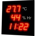 Visualizador de temperatura, humedad y hora.