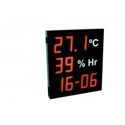 Visualizador de temperatura, humedad, hora y calendario.