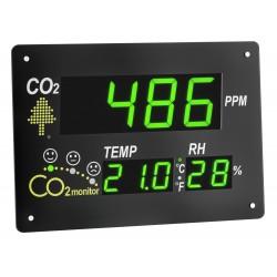 Medidor de temperatura, humedad y CO2
