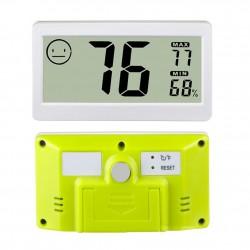Mini termohigrómetro para interior color blanco con memoria máxima y mínima