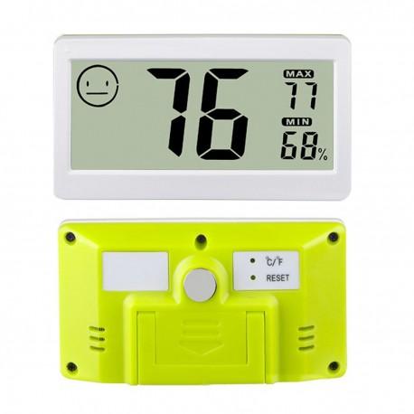 306124 Mini termohigrómetro para interior color blanco con memoria máxima y mínima