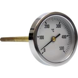 Termómetro para horno de leña con vaina de 200 mm 0ºC + 500ºC
