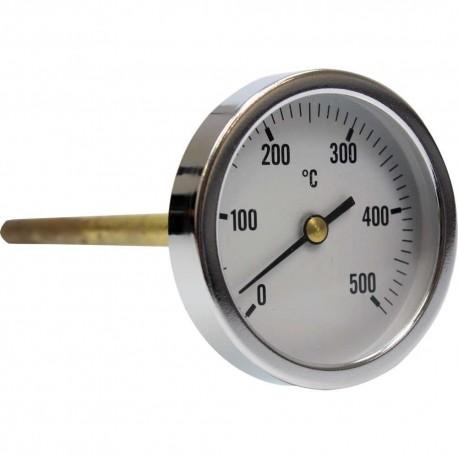 220416 Termómetro para horno de leña con vaina de 300 mm 0ºC + 500ºC
