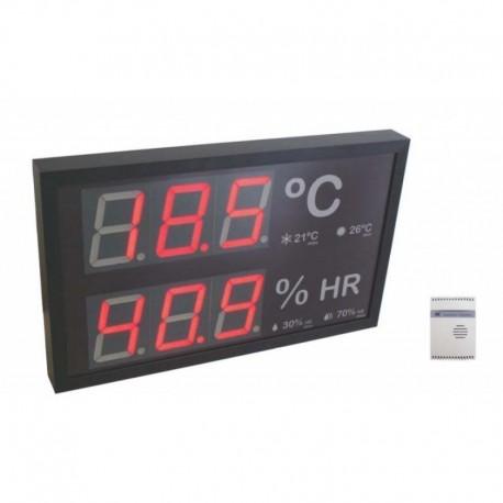 THR60-TROPIC Indicador led de temperatura y humedad especial piscinas.