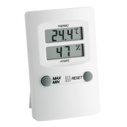 Termohigrómetro digital con memória máx / mín