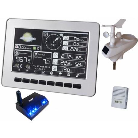 TE2600SE + TE1000SE Estación Meteorológica con conexión a internet mediante LAN ( cable ) con display.