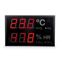 Indicador led de temperatura y humedad según Real decreto 1826/2009 con sonda externa.