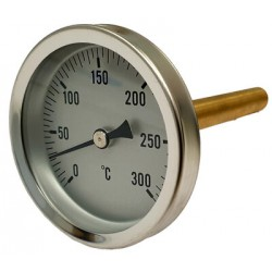 220417 Termómetro para horno con vaina de 100 mm 0ºC + 300ºC Termomed