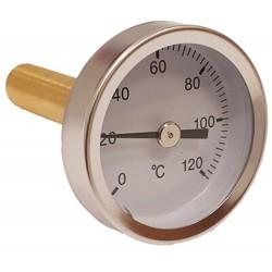 220412 Termómetro con vaina de 100 mm 0ºC + 120ºC Termomed