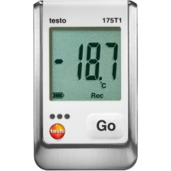 05721751+CR Set Data Logger de temperatura 175-T1 con certificado ISO Testo